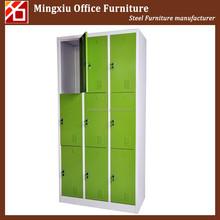 Simple style knock down light green steel locker lockable
