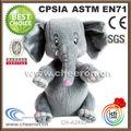 2014 pelúcia elefante cinzento brinquedo made in China