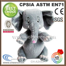2014 plush stuffed gray elephant toy made in China