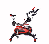 NEW 27KG COMMERCIAL SPIN FLYWHEEL EXERCISE BIKE HOME FITNESS GYM PULSE MONITOR