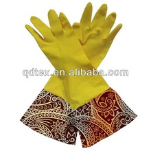 glass cleaning yellow household latex gloves