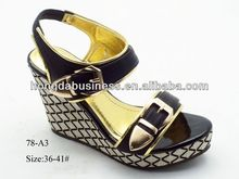 2014 fashion wedge heel lady sandal high platform