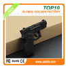 3D PVC pistol free samples usb flash drive with free shipping