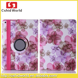 Flower dot fashion Style Flip Leather Cover Case For iPad Air 2,360 Rotating Pu Leather Case