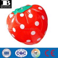 custom big inflatable strawberry display inflatable fake strawberry giant inflatable fruits for advertising