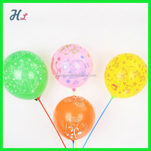 latex animal printed balloon with stick