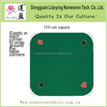 polyester green game print felt mat Felt / Play Mat / Poker Mat