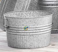 Large size galvanized metal garden decoration plant pots