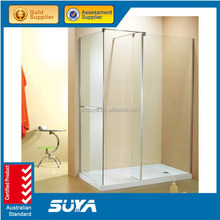 toughened glass shower screen with ISO toughened glass shower partition