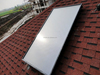 2015 hot sale flat plate solar water heater collector with blue titanium/black chrome absorber