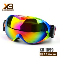 ce standard wholesale mirror double lens ski goggles