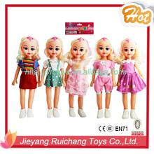 18 pulgadas de vestir niña de la muñeca de la muñeca con música por 3962A1
