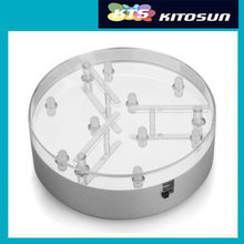 Event & Party Supplies 4 inch Round White LED Light Base By 3AA Battery Operated