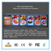 400mm x 600mm table menu board LED display poster picture frame wall mounted crystal light box