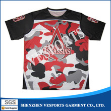 Fashion design digital printing sports t shirt