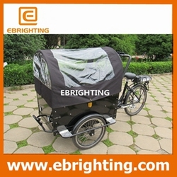 250w brushless folding bike bag with wheels for family
