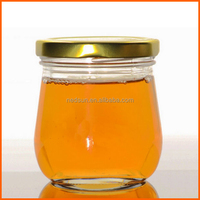 Clear glass packaging bottles for honey, honey glass jar