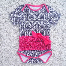100% cotton baby bodysuits, printed baby rompers, short sleeve cute girl clothing manufacturers