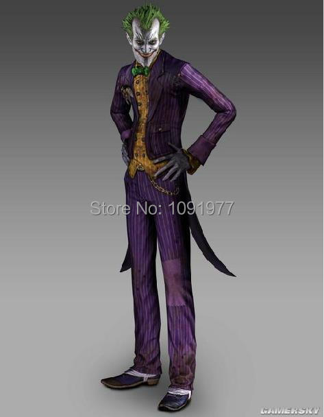 Batman Arkham City Joker Cosplay Costume Classic Halloween Party Costumes Any Size Customized ... & Batman Arkham City Joker Cosplay Costume Classic Halloween Party ...