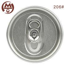 Aluminio bebida gaseosa de extremo abierto fácil tapa de la lata 206# sotacciones venta al por mayor