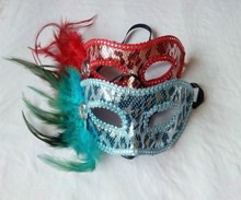 Wholesale Beautiful Design Feather Mask
