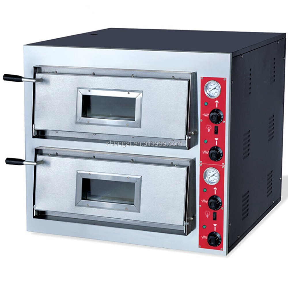 Commercial Electric Pizza Oven ~ Double deck commercial electric pizza oven built in ss