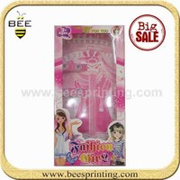 paper decorate box for Barbie , pink luxury paper box , creative paper packaging box
