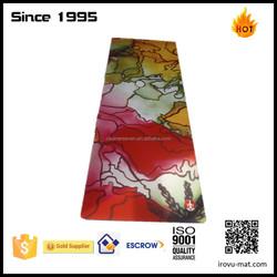 professional washable big Bikram hot yoga mat manufacturer China