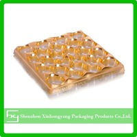 Plastic PVC/PET/PS material chocolate blister tray,dessert blister tray