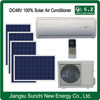 Off grid 100% hot sale DC48V split solar powered water cooled air conditioner