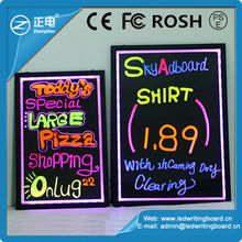 2015 low price advertising sign boards remote ontrol 90 flashing fast food advertising board neon sign
