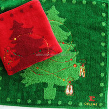 tailor making brands printed 2013 christmas gift towel