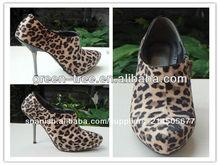 la belleza de leopardo de impresión botas para mujer 2014