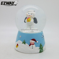 Cute kids angel statue gifts christmas photo snow globes