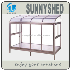 2015 Aluminum frame sunroom with polycarbonate sheet