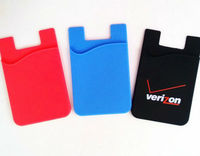 3M Adhesive Stick Back Cover Card Holder Pouch For iPhone