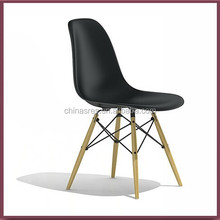 plastic DSW dining chair with wooden/steel leg