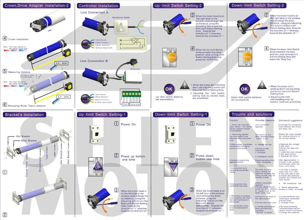 Электрический тент трубчатый мотор/однофазный дешевые цены трубчатый мотор