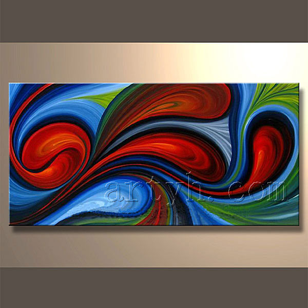 Color fleur peinture l 39 huile abstraite - Peinture abstraite huile ...