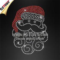 Cute santa motif custom rhinestone christmas iron ons
