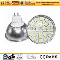 Aluminum 120degree 12V 3.5W 24SMD 5050 Ra>80 Lamp MR16 LED