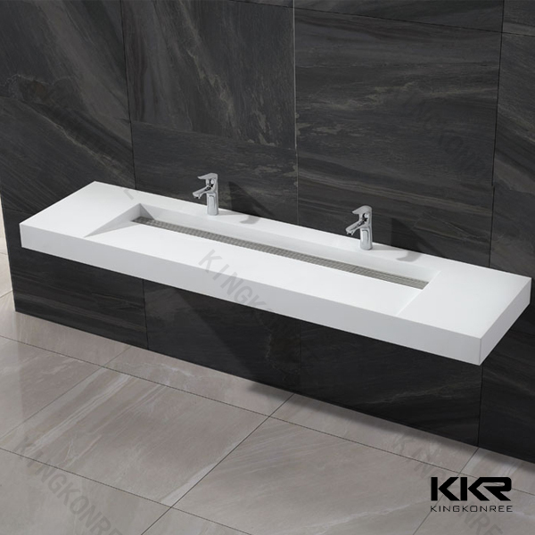 Kkr oem double bathroom sink countertop molded sink countertop buy double bathroom sink for Double sink countertop bathroom