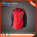 Hj08 2015 7.4v aquecido quente russo com capuz jaqueta de inverno para os homens