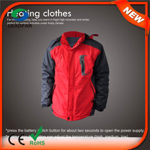 HJ08 2015 7.4v Heated Warm hooded russian winter jacket for men