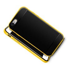 popular unbreakable silicon protective yellow mobile phone case for iPhone 6