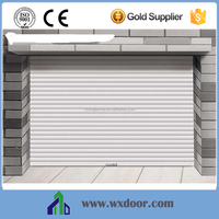 Entry automatic roll up garage door