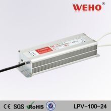 Different types waterproof 24v 100w constant voltage dimmable led driver