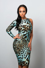 2014 Hot Dress Animal Attractive Night Club Sexy One Piece Girls Party Dresses