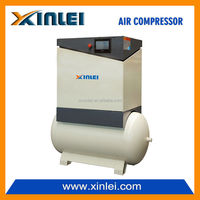 frequency conversion 230v 50hz XLPM20AT-A1 three phase 15kw 20hp screw air compressor AC power lubricant oil 300L tank