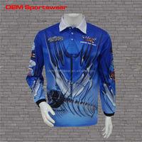 Quick dry polyester custom fishing shirts wholesale